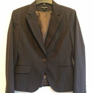 Express Design Studio Brown Pinstripe Blaze Size 6